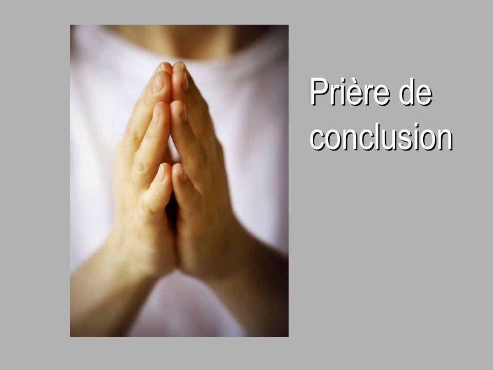 Prière de conclusion Prière de conclusion