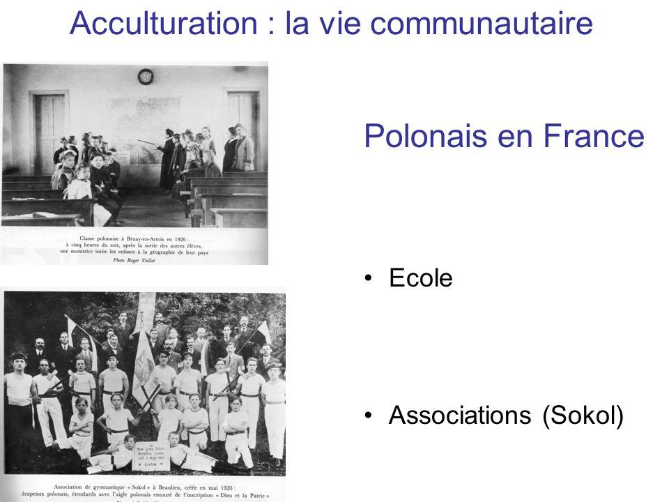 Acculturation : la vie communautaire Polonais en France Ecole Associations (Sokol)