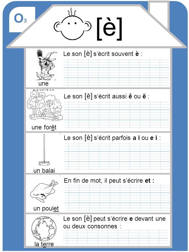 O4O4 Le son [k] sécrit souvent avec un c ou cc : un sac Le son [k] sécrit aussi qu : 4 quatre Parfois, le son [k] sécrit k : un koala le son [k] peut aussi sécrire q (à la fin dun mot) ou ch : un orchestre 5 cinq [k]
