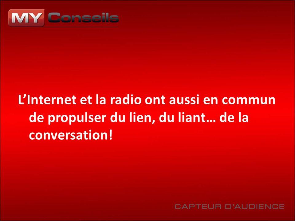 LInternet et la radio ont aussi en commun de propulser du lien, du liant… de la conversation!