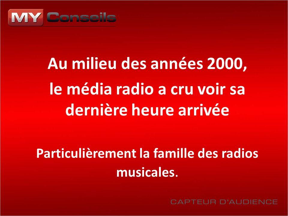 Au milieu des années 2000, le média radio a cru voir sa dernière heure arrivée Particulièrement la famille des radios musicales.