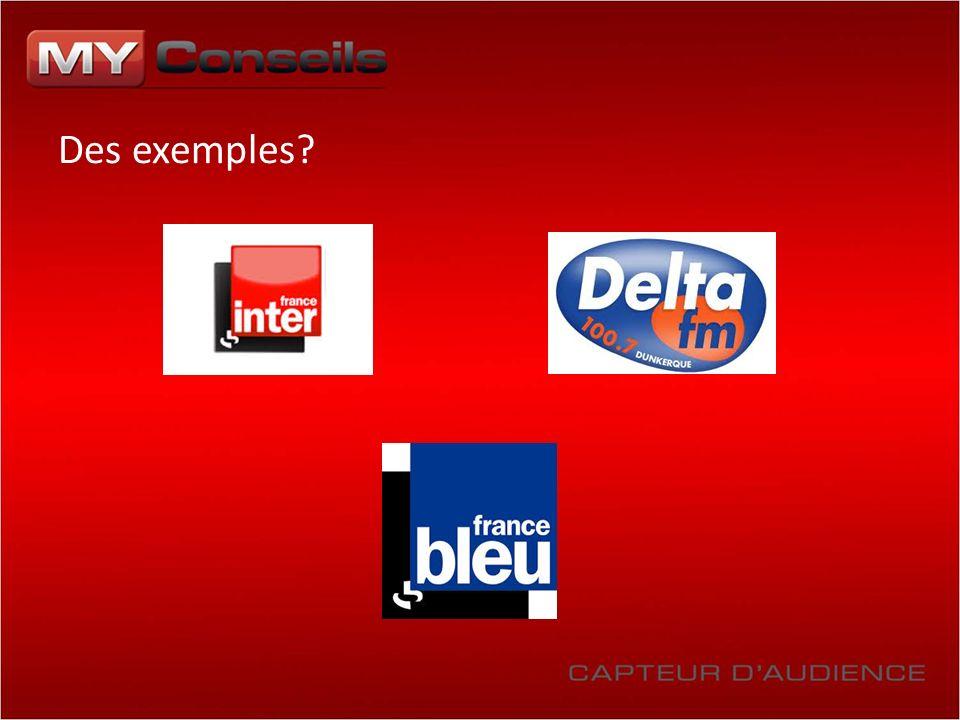 Des exemples?