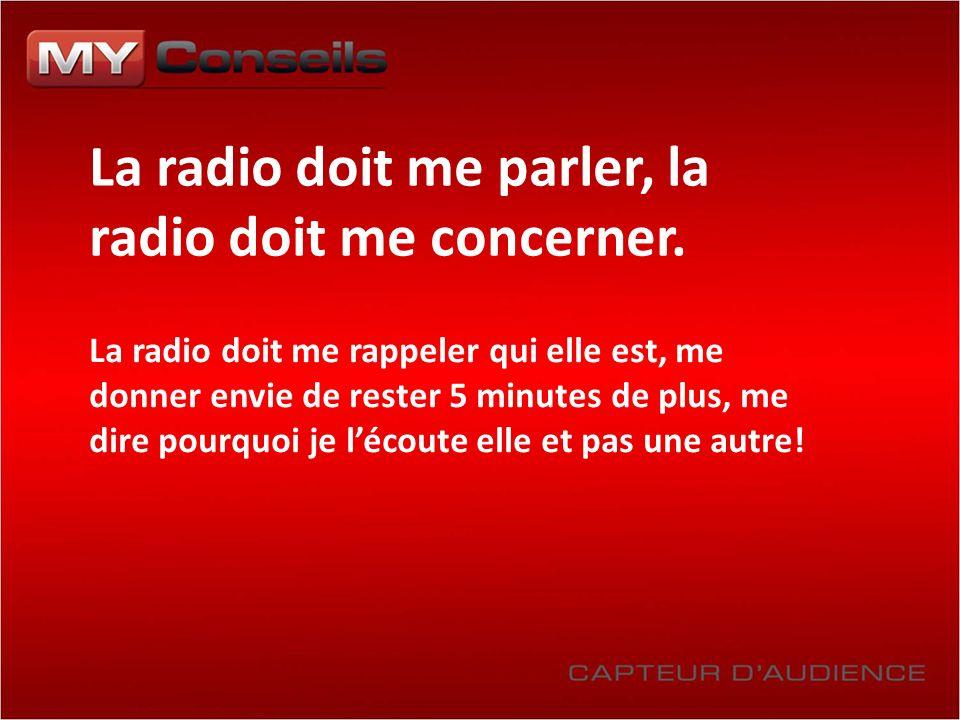 La radio doit me parler, la radio doit me concerner. La radio doit me rappeler qui elle est, me donner envie de rester 5 minutes de plus, me dire pour