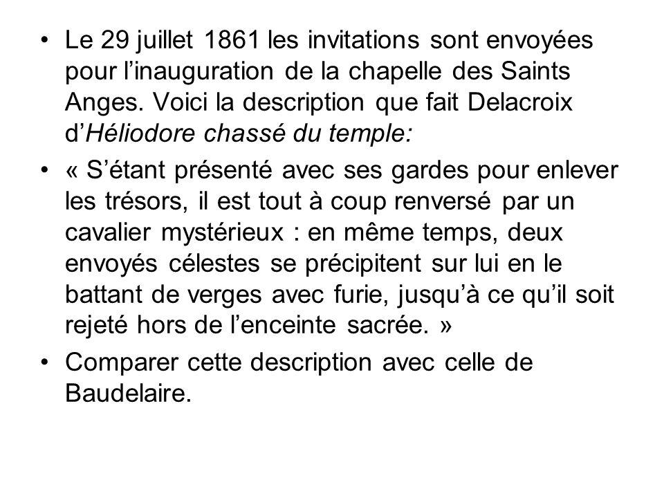 Le 29 juillet 1861 les invitations sont envoyées pour linauguration de la chapelle des Saints Anges.