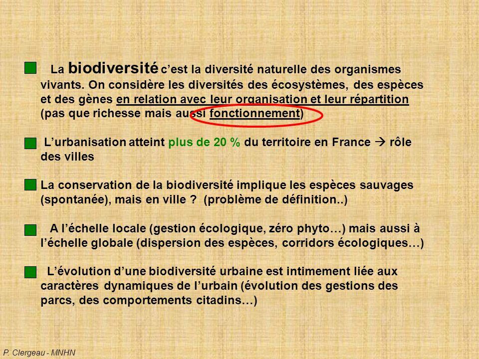 La biodiversité cest la diversité naturelle des organismes vivants.