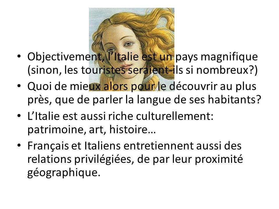 Economiquement, les objectifs de la France et de lItalie sont les mêmes.