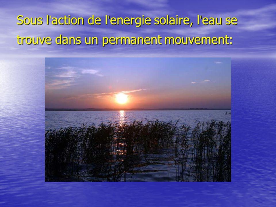 Sous l ˈ action de l ˈ energie solaire, l ˈ eau se trouve dans un permanent mouvement:
