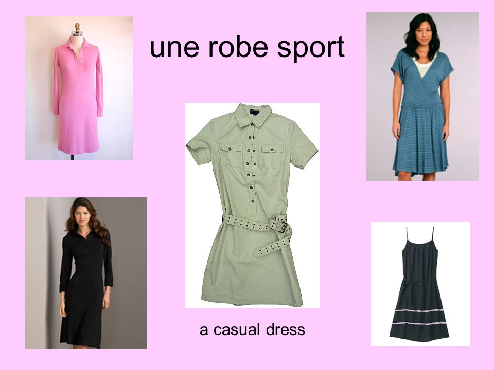 une robe sport a casual dress