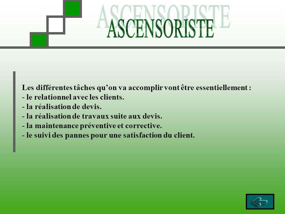 Les différentes tâches quon va accomplir vont être essentiellement : - le relationnel avec les clients. - la réalisation de devis. - la réalisation de