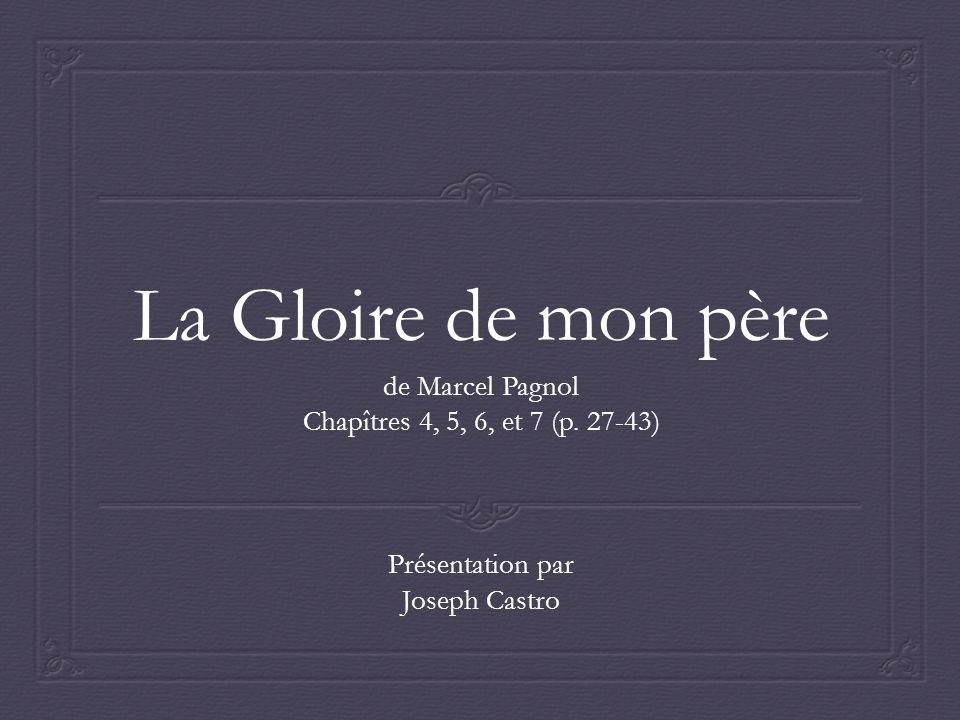 La Gloire de mon père de Marcel Pagnol Chapîtres 4, 5, 6, et 7 (p.