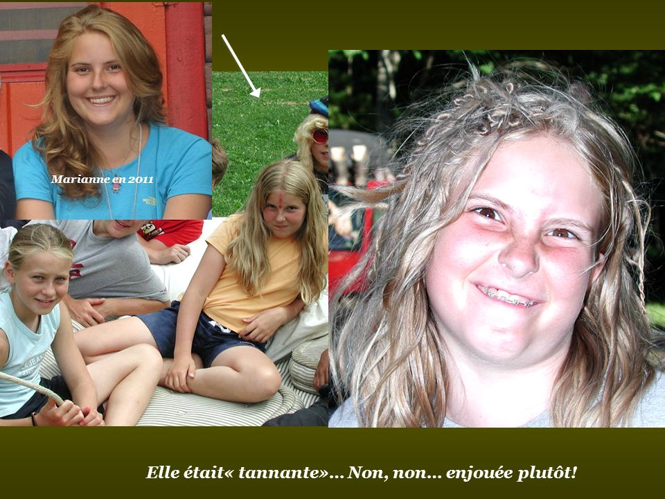 Cest la petite Marianne Legault qui était animatrice lété passé!