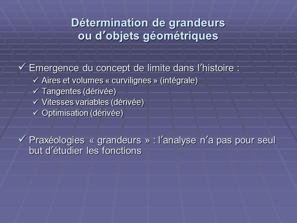 Détermination de grandeurs ou dobjets géométriques Emergence du concept de limite dans lhistoire : Emergence du concept de limite dans lhistoire : Air