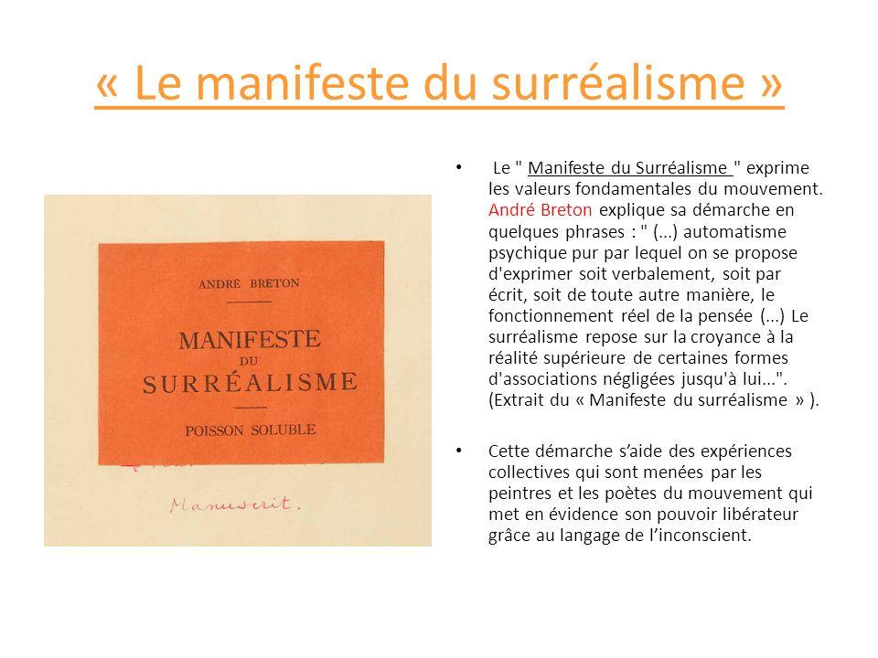 « Le manifeste du surréalisme » Le