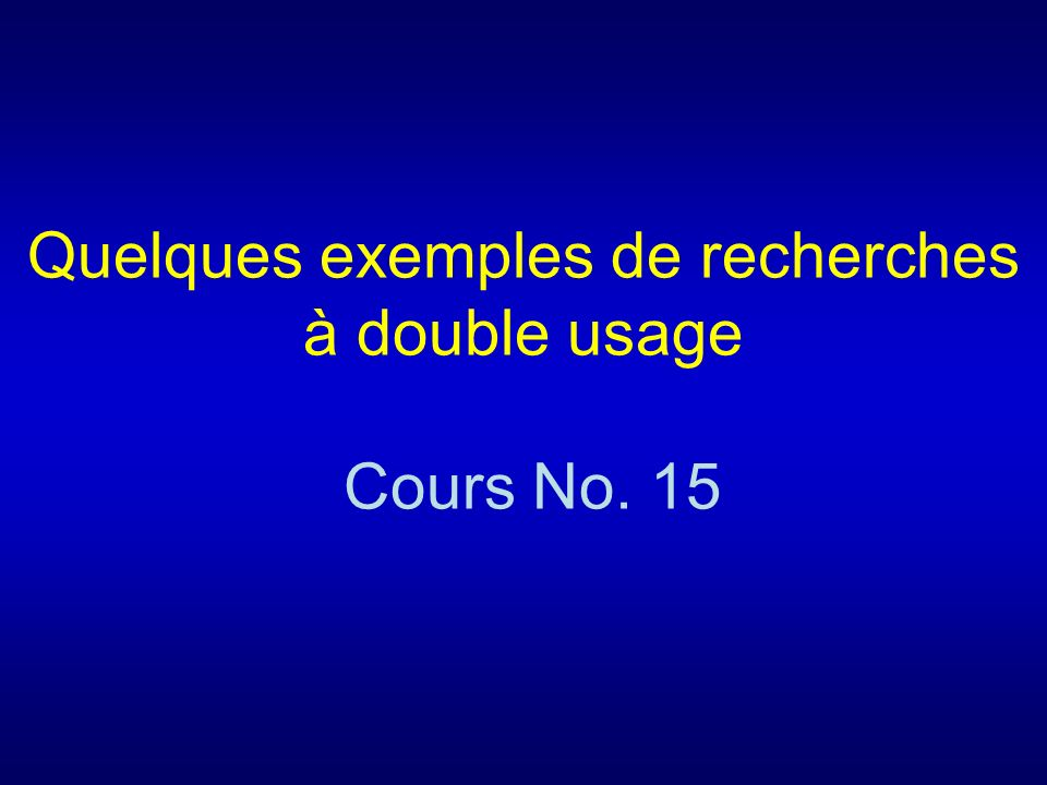 Cours 15 Questions-types 1.