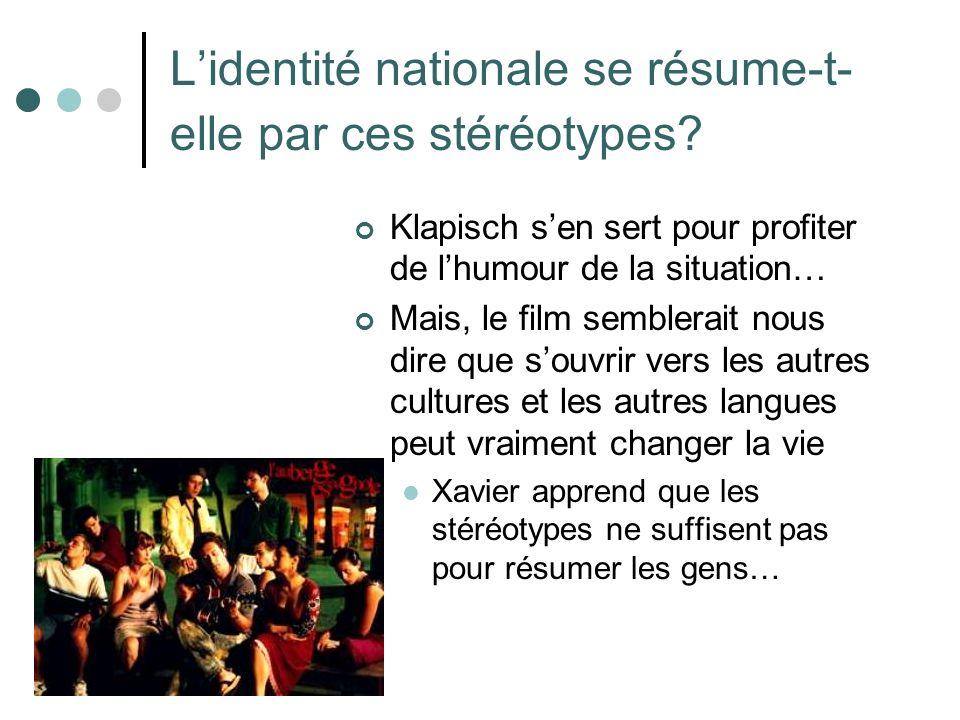 Question: Les gens peuvent sidentifier aussi selon beaucoup dautres critères que la nationalité.
