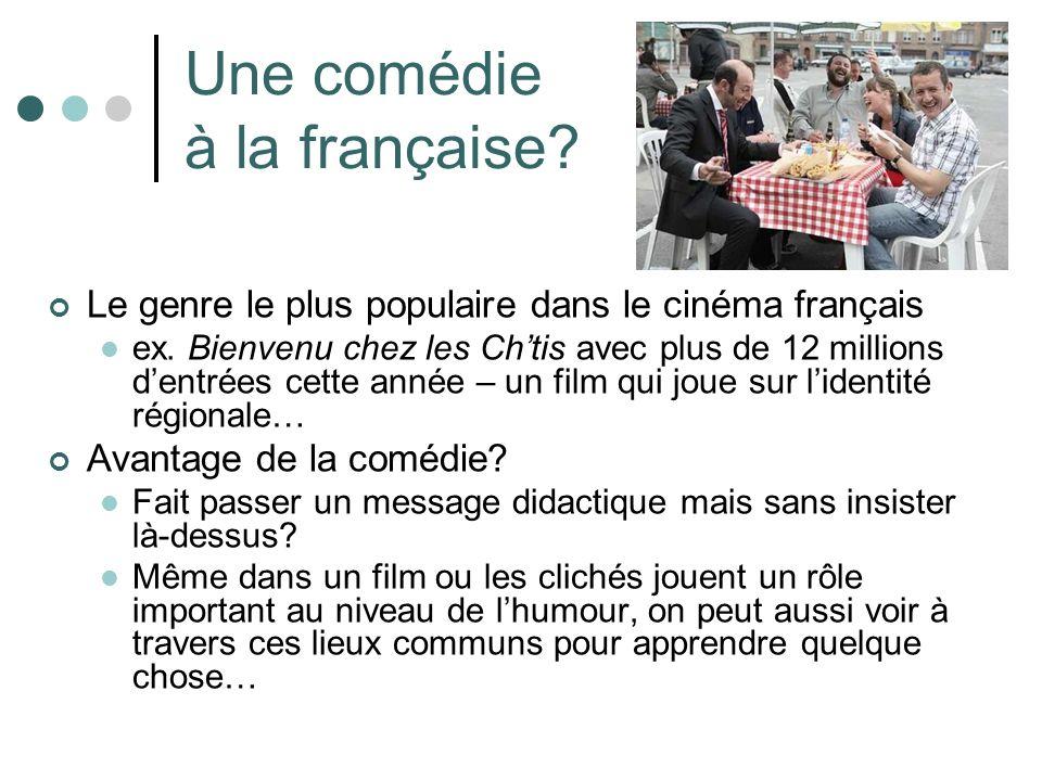 Une comédie à la française. Le genre le plus populaire dans le cinéma français ex.