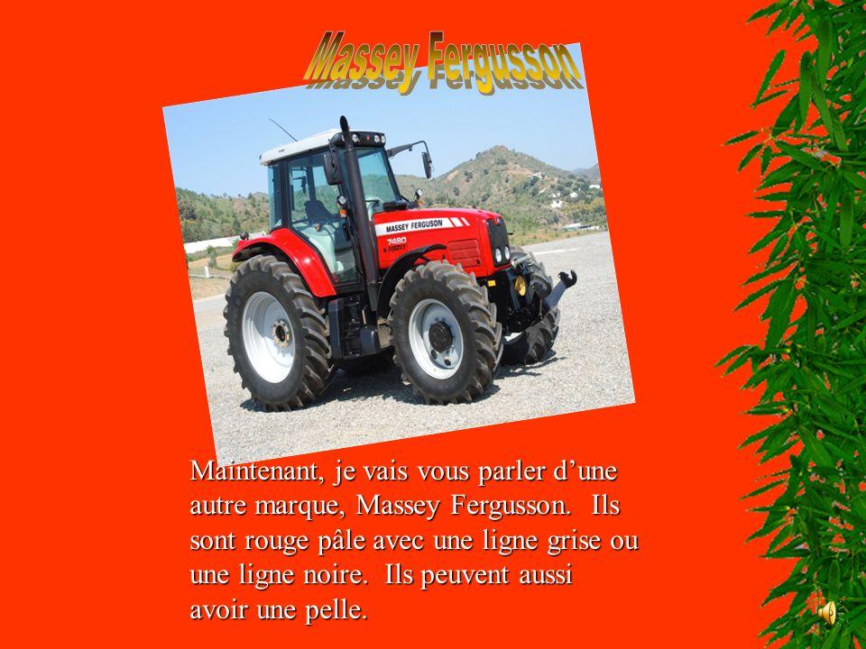 Ma marque de tracteur préférée est les New Holland.