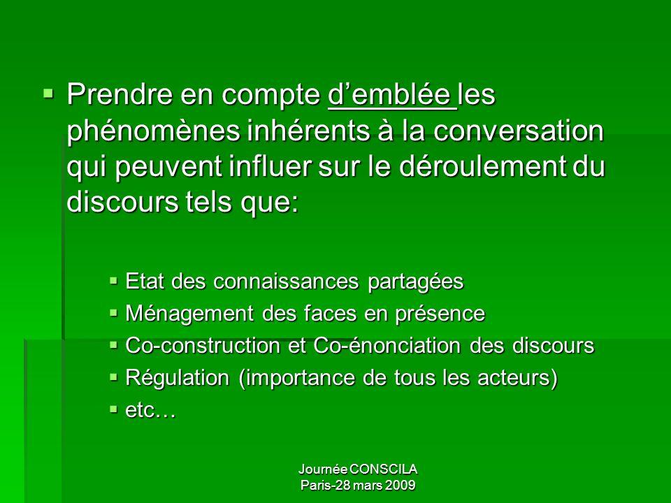Journée CONSCILA Paris-28 mars 2009 Unités prosodiques et discours Postulat fréquent : les unités classiques ne seraient pas pertinentes pour lanalyse