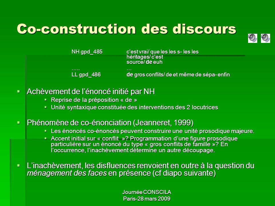 Journée CONSCILA Paris-28 mars 2009 Disfluences