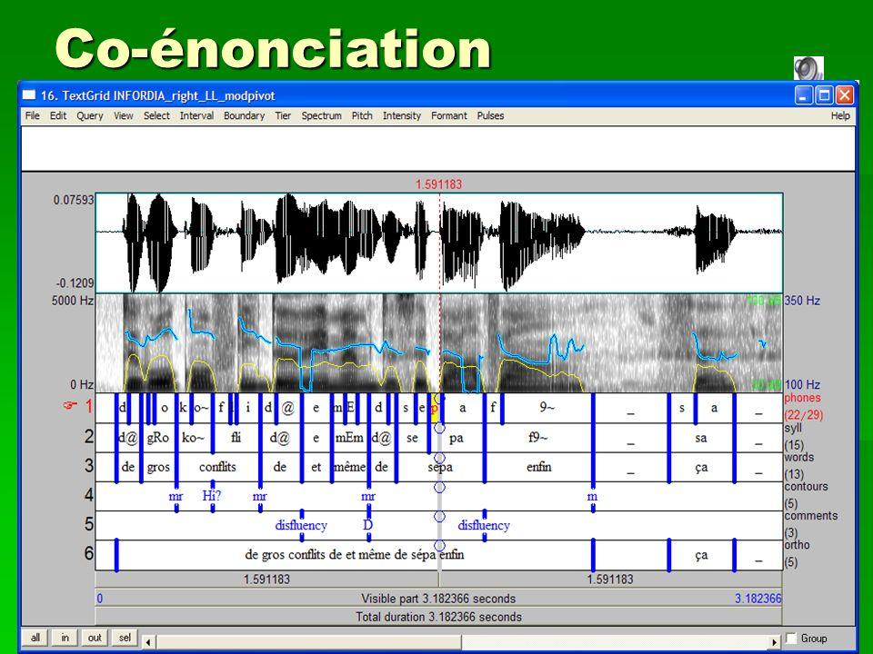 Journée CONSCILA Paris-28 mars 2009 Co-construction des discours NH gpd_485c'est vrai/ que les les s- les les héritages/ c'est source/ de euh …..… LL
