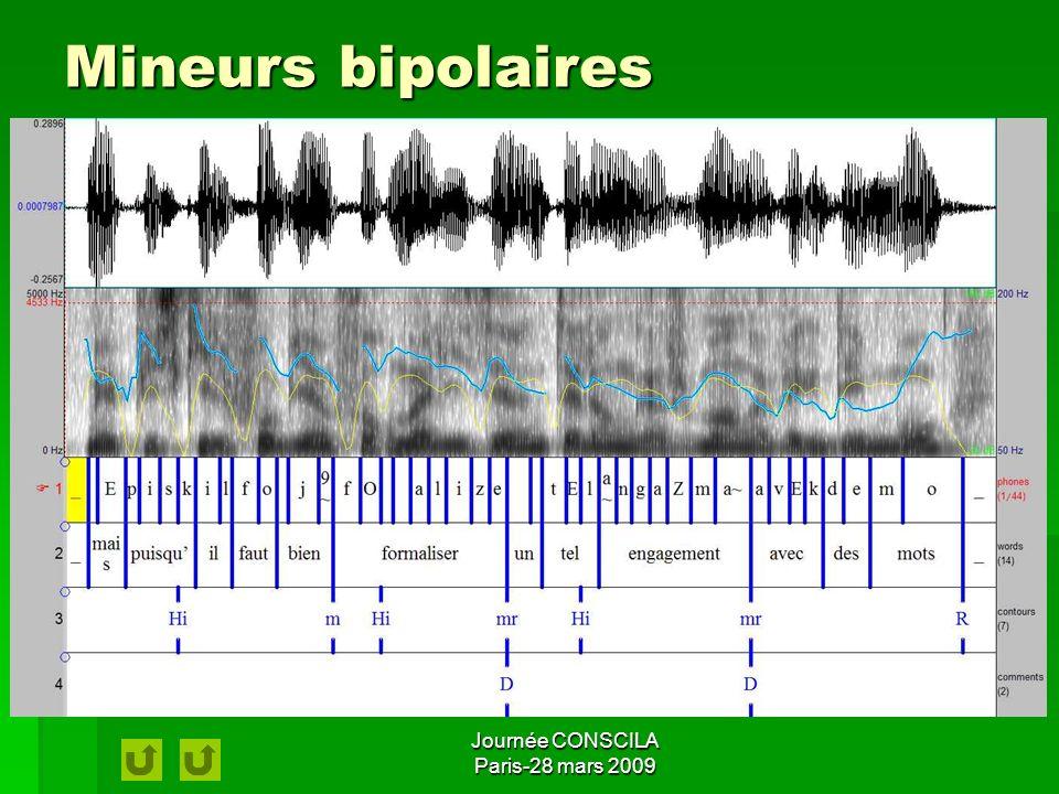 Journée CONSCILA Paris-28 mars 2009 Mineurs unipolaires