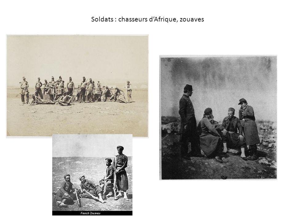 Soldats : chasseurs dAfrique, zouaves