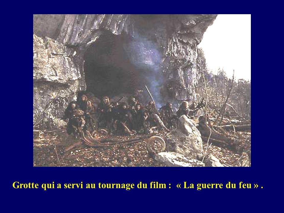 Grotte qui a servi au tournage du film : « La guerre du feu ».