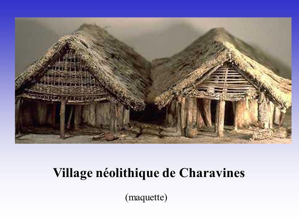 Village néolithique de Charavines (maquette)