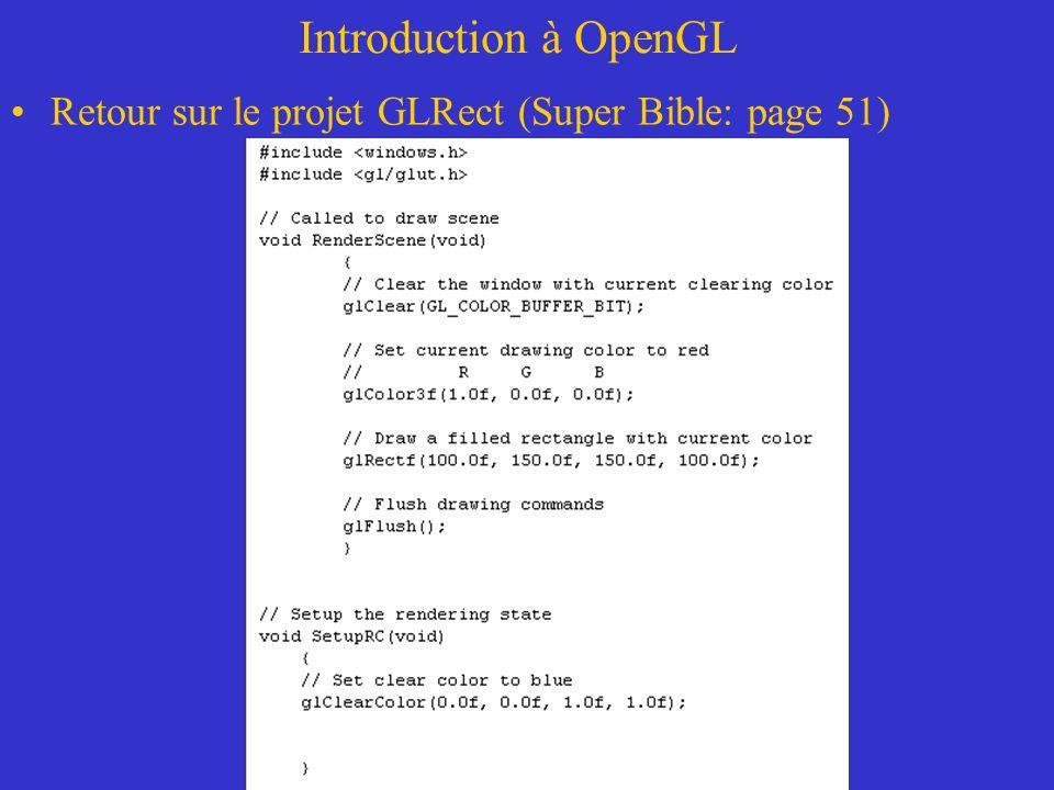 Introduction à OpenGL Voici les fichiers *.h et *.lib que vous allez utiliser:
