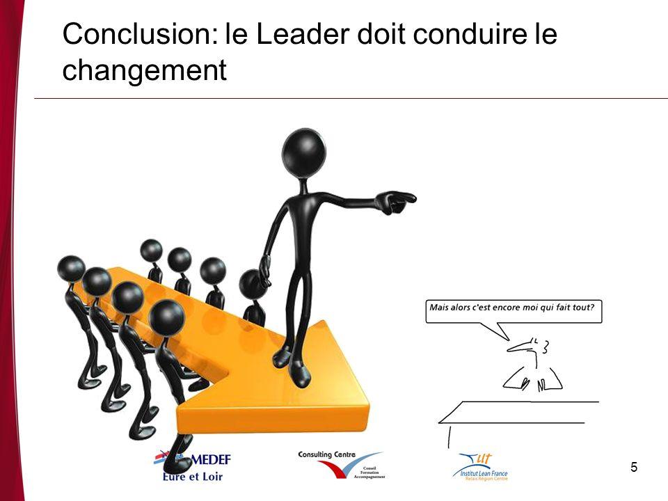 5 Conclusion: le Leader doit conduire le changement