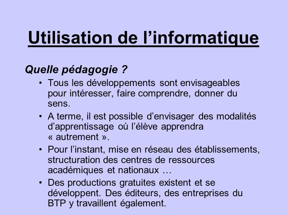Utilisation de linformatique Quelle pédagogie .