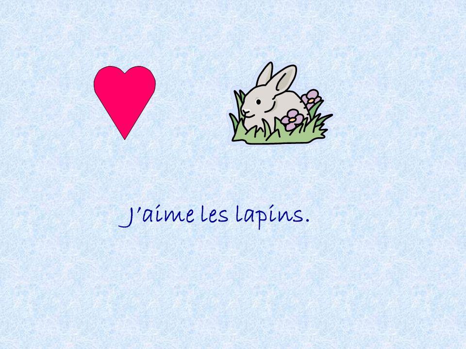 Jaime les lapins.