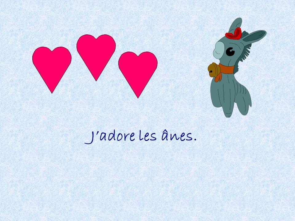 Jadore les ânes.