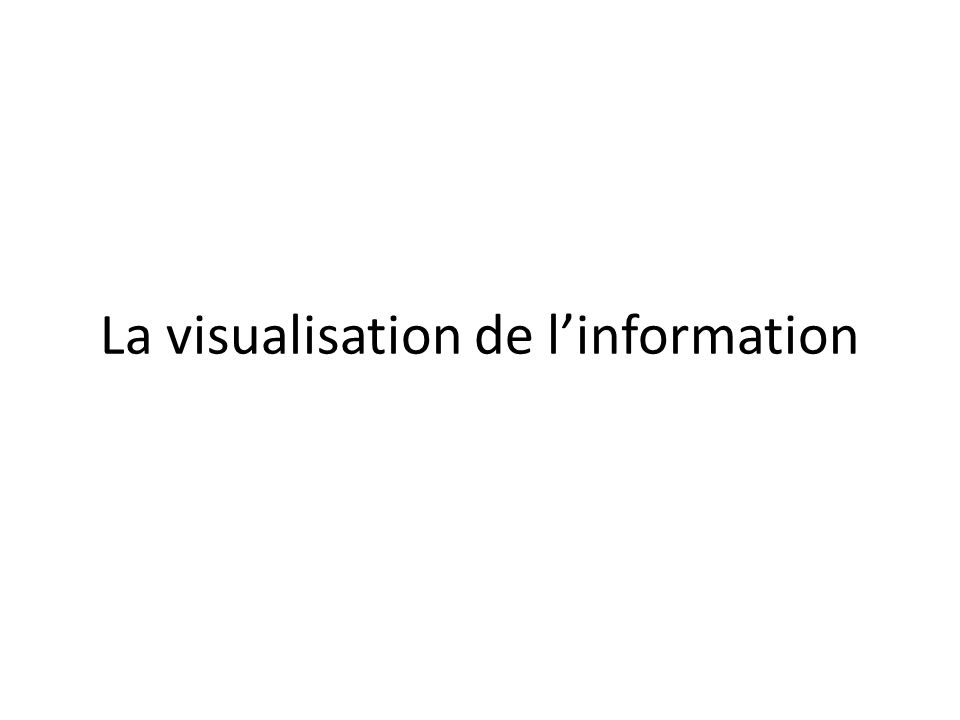 La visualisation de linformation
