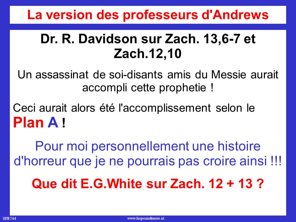 SFR744 www.hopeandmore.at Dr. R. Davidson sur Zach.