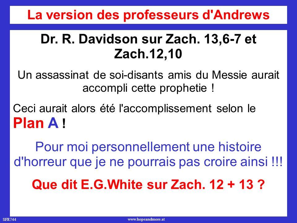 SFR744 www.hopeandmore.at Dr.R. Davidson sur Zach.