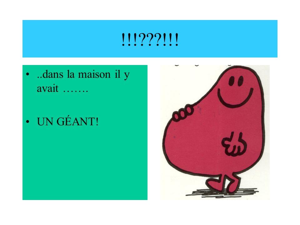 Il a crié Pardon… Monsieur Grosgourmand était choqué.
