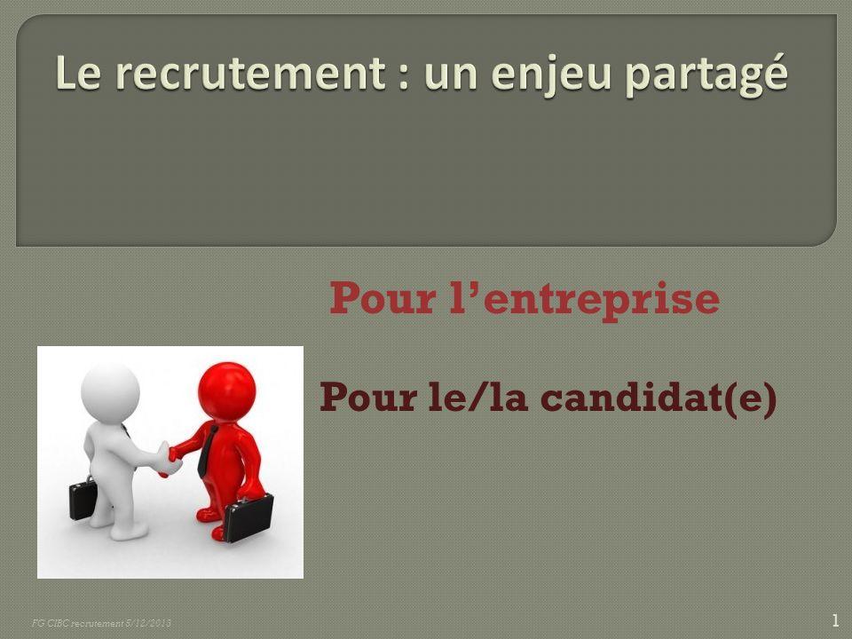 Pour lentreprise - - Pour le/la candidat(e) 1 FG CIBC recrutement 5/12/2013
