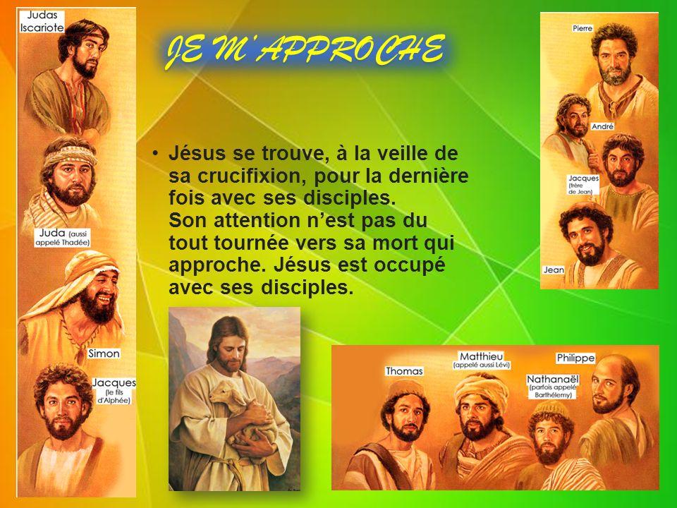 Jésus se trouve, à la veille de sa crucifixion, pour la dernière fois avec ses disciples.