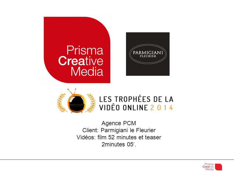 Agence PCM Client: Parmigiani le Fleurier Vidéos: film 52 minutes et teaser 2minutes 05.
