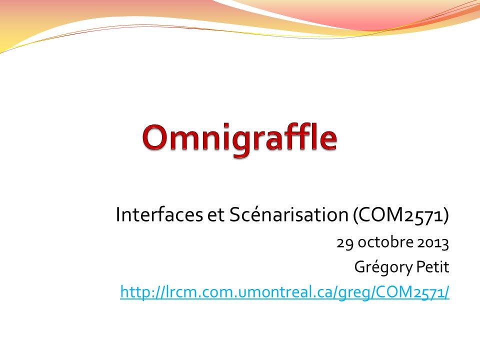 Interfaces et Scénarisation (COM2571) 29 octobre 2013 Grégory Petit http://lrcm.com.umontreal.ca/greg/COM2571/