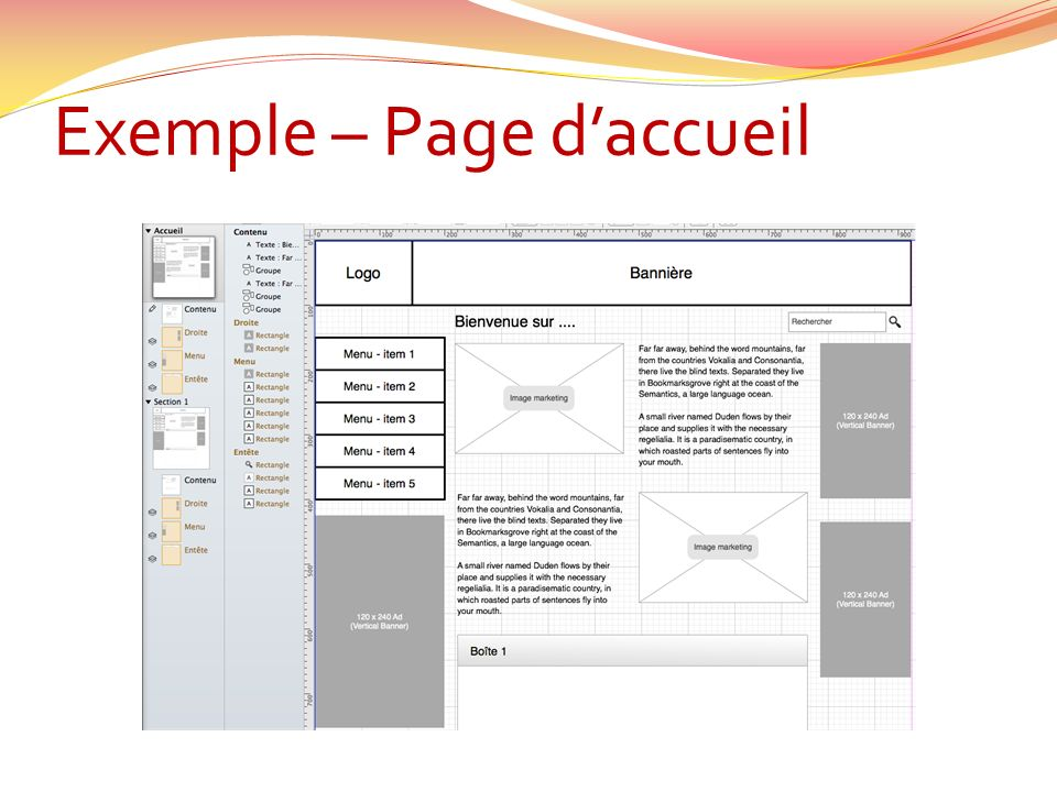 Exemple – Page daccueil