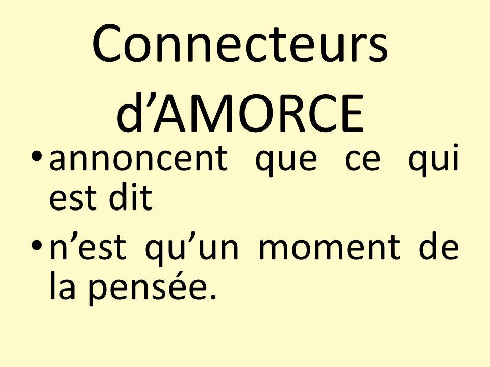 Introduire: Commençons par… Dabord… Avant tout...