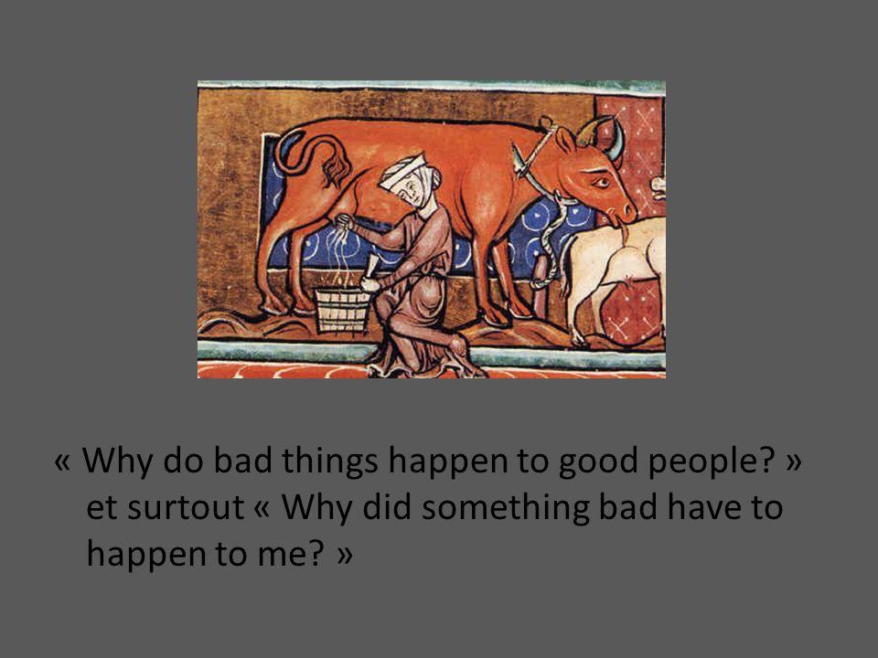 Pour la réponse, les européens du Moyen Age se tournait vers léglise qui leur disait que cétait tout le travail du diable.