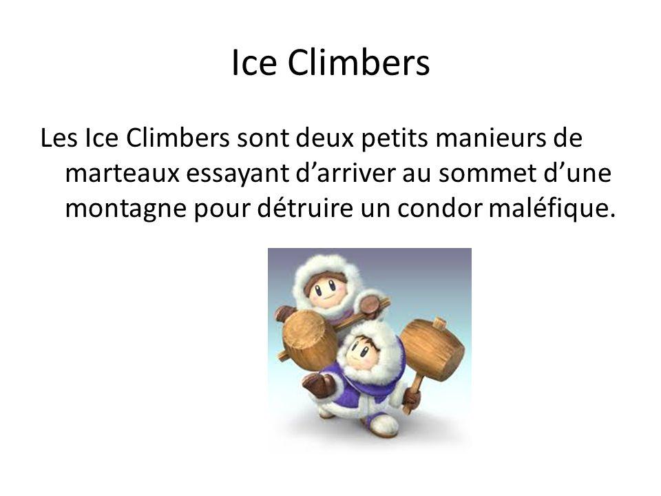 Ice Climbers Les Ice Climbers sont deux petits manieurs de marteaux essayant darriver au sommet dune montagne pour détruire un condor maléfique.