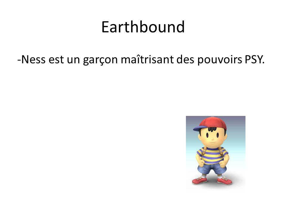 Earthbound -Ness est un garçon maîtrisant des pouvoirs PSY.