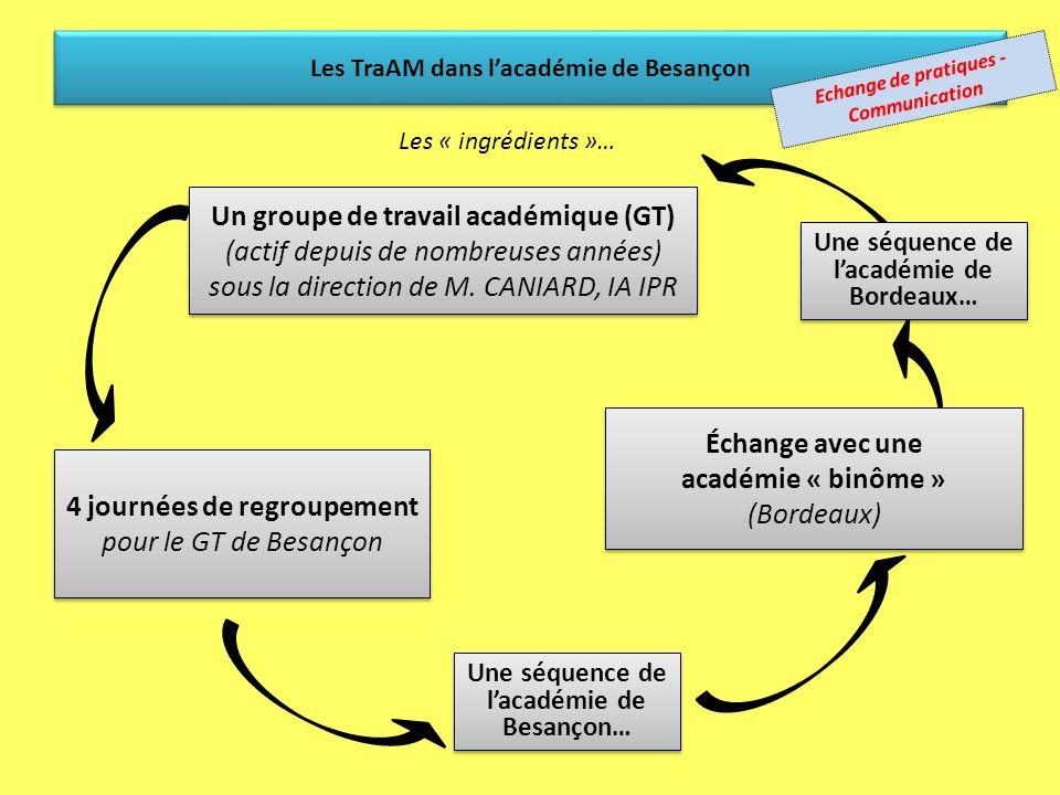 Bordeaux: une académie binôme (présentation par Alban LAPEYRE) Travaux Académiques mutualisés (TraAM) 2011 Action du Ministère (présentation par Etien