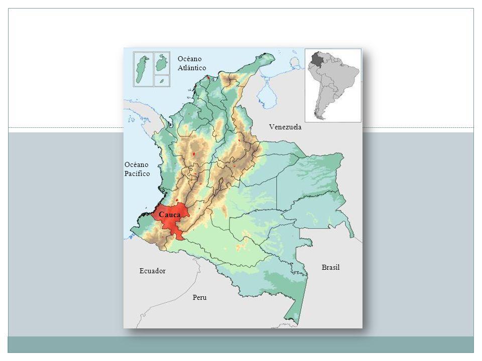 Océano Pacífico Cauca Océano Atlántico Venezuela Ecuador Peru Brasil