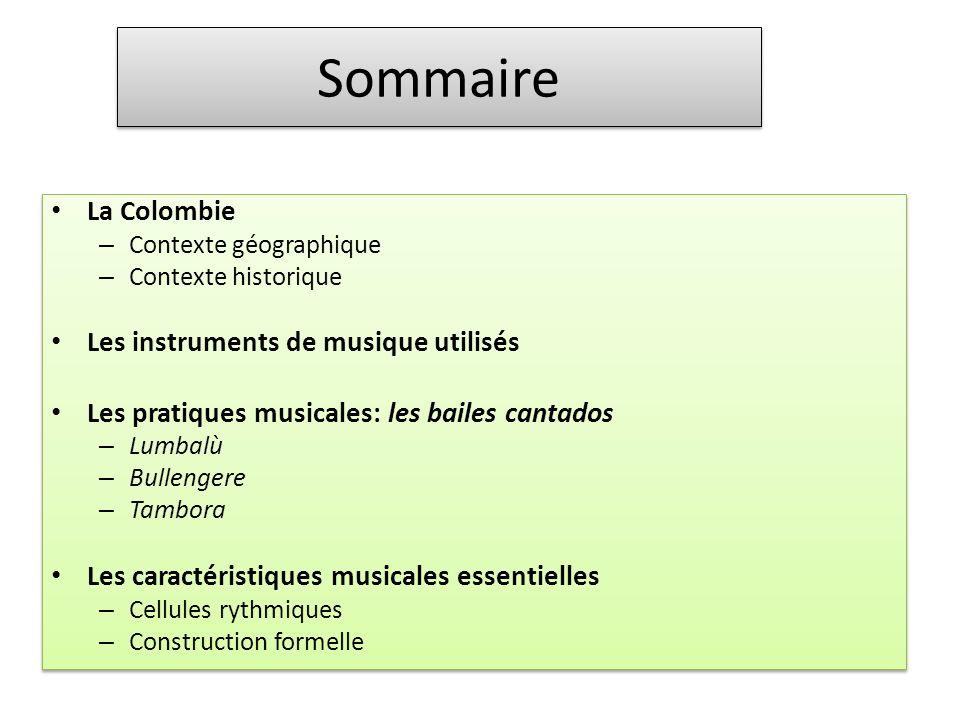 La construction des musiques colombiennes se fonde sur une alternance entre un soliste et un chœur : on appelle cela un chant responsorial.