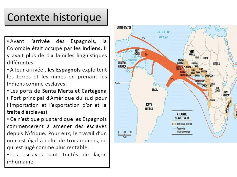 Contexte historique Avant larrivée des Espagnols, la Colombie était occupé par les Indiens.